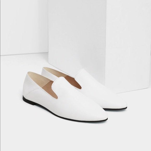 a8efe9e89bb1d Mango Shoes   Nwt Genuine Leather Loaferslide Size 65   Poshmark